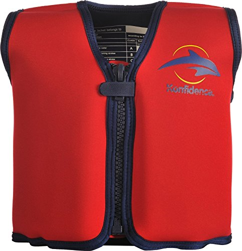 Konfidence The Original Children's Swim Jacket (Red/Yellow, 18 Months to 3 Years)