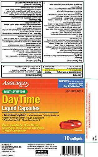 Multi-Symptom DayTime Liquid Capsules -10 Softgels