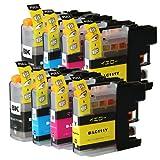 むさしのメディア BROTHER(ブラザー) LC111-4PKx2 (4色セットx2パック) 互換インクカートリッジ ICチップ付き 残量表示対応