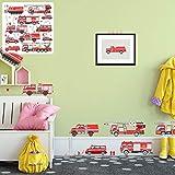 XXL Wandtattoo Set verschiedene Motive  Kinderzimmer Aufkleber bunt Wanddeko (Feuerwehr)