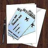 Tarjeta de revelación de billete de avión sorpresa para marido esposa BF GF J03