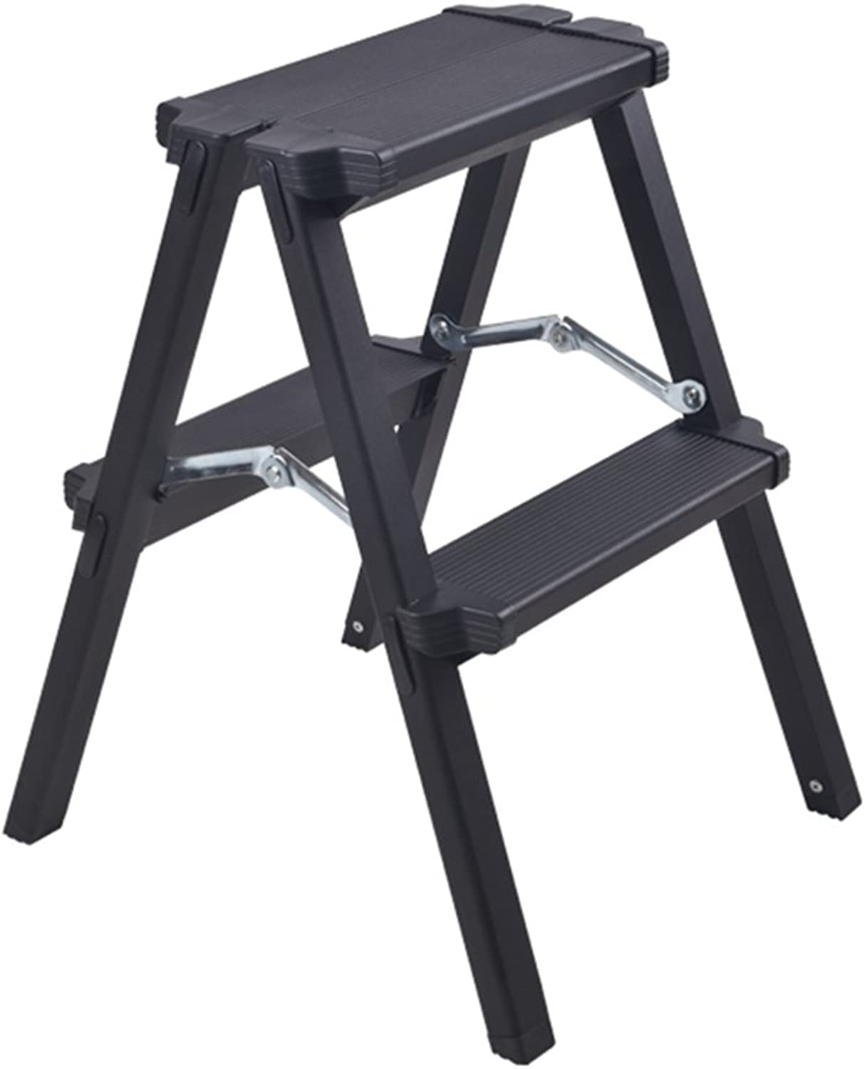 WUFENG Ladder Stool Foldable Multifunction Thicken Aluminum Alloy Engineering Ladder Ultralight Portable (color   B, Size   37x38x50cm)