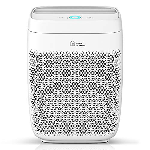 Zigma Air Purifier for Large Room up to 1580 ft2, Available for California, True HEPA 5-in-1 Smart Air Purifiers for Home w/Voice Control for Dust, Pollen, Pet Hair, Smoke, Air Cleaner for Bedroom, Office, Kitchen Aerio-300