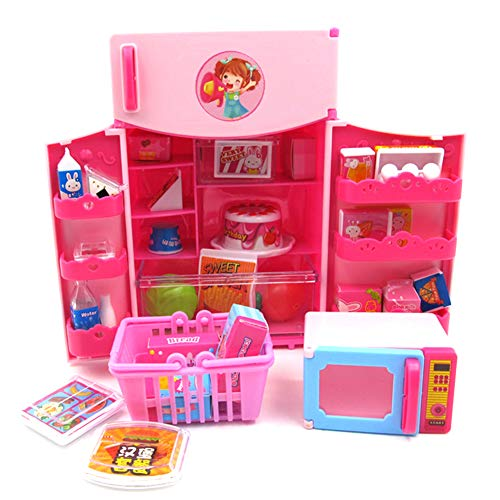 Catkoo Mini Simulation Kühlschrank Lebensmittel Kit Haushaltsgerät Modell Pretend Play Kids Toy, Perfekte Ausbildung Kinder Intelligenz Geschenke