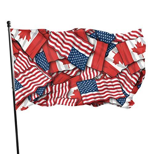 LL-Shop Gartenflagge Patry Flagge Außenflagge Gartenfahne Außenhof Flagge Wall Lawn Banner Home Flagge Kanadischer Amerikaner