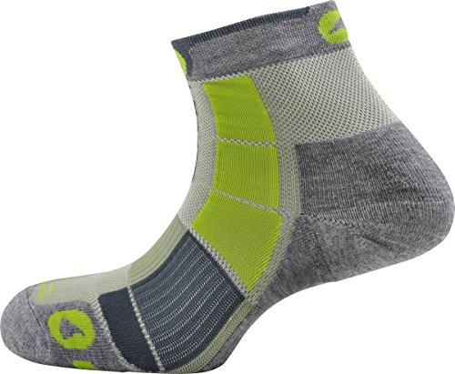 Socquette de Randonnée Mid Trek Air Monnet Gris/Vert 39/40