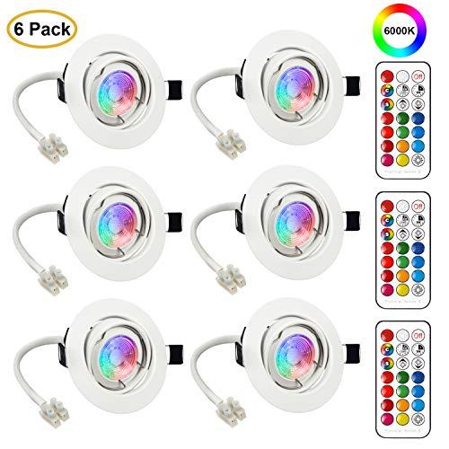 Faretti LED da Incasso Cartongesso Plafoniere LED Soffitto Orientabile Luce Bianco Freddo 3W Pari a 20W 6000K Angolo a Fascio 120 Gradi AC 85-265V