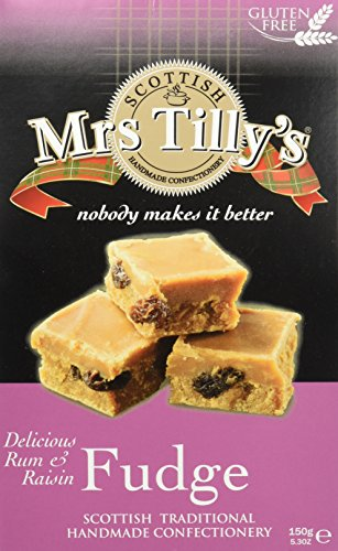 Mrs Tilly\'s Rum und Rasinen Fondant in einer Geschenkpackung (1 x 150 g)