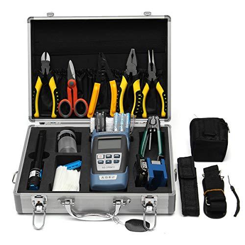 feichang Otras herramientas 25PCS Fibra óptica FTTH Kit de herramientas de fibra óptica y medidor de potencia óptica FC-6S con caja de reparación