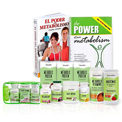 Naturalslim Personal Program Complete Weight Loss Kit Supplements w/Free Frank Suarez Metabolismo Books & Weekly Consultation - Ultimate Guide to Healthy Metabolism