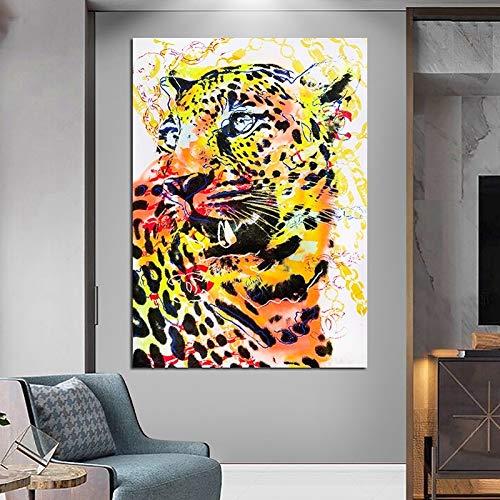 wojinbao Kein Rahmen HD Wilde Farbe Jaguar Moderne Poster Wohnkultur auf Wohnzimmer Sofa