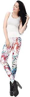 YJiaJu 新しいファッションレディースレギンスの3Dプリントファッションモザイクレギンスレディーススポーツヨガのレギンスのためのレッグレングスレギンスパンツ (Color : Multi-colored, Size : S)