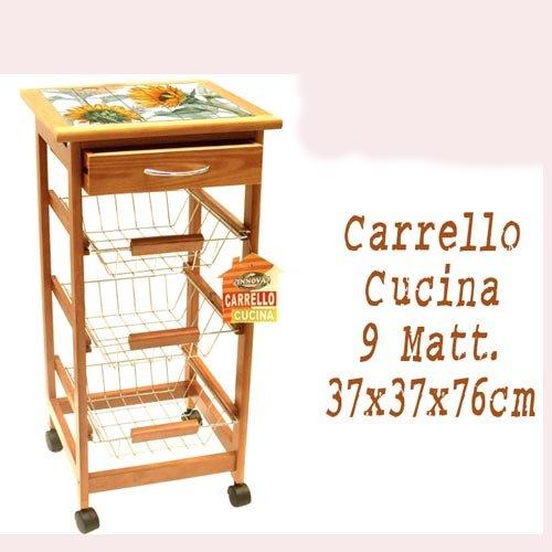 Carrito de cocina 9azulejos girasol–COD.214