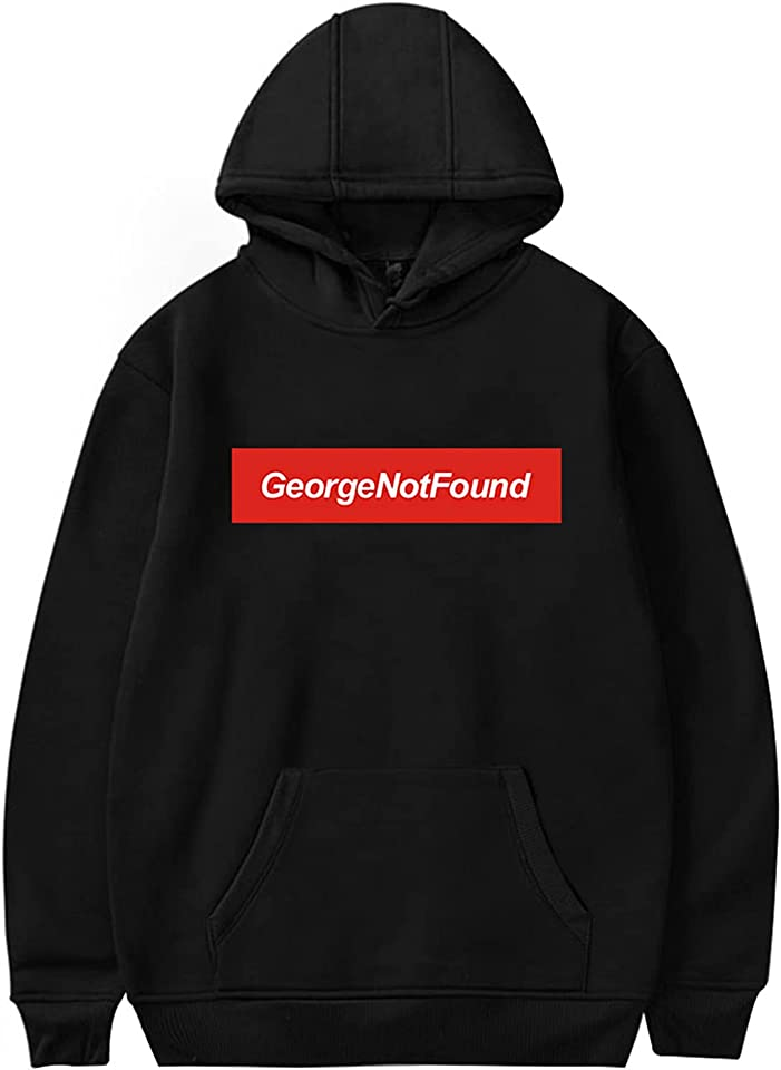 GeorgeNotFound Merch GeorgeNotFound Hoodie Jumper Hooded Pullover Sweatshirt Long Sleeve Top Kangaroo Pocket Youtube Merch Casual Outerwear for Unisex XXS-3XL