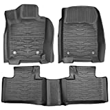 HIKOTOR Front & Rear Mats Compatible for 2016-2020 Grand Cherokee Rubber Slush Mats Floor Mats