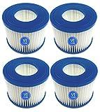 WYWZDQ Mscomft VI Cartucho de filtro de repuesto para piscina VI Filtro de repuesto para Lay-Z-Spa Bestway Flowclear Pool Filter, para Bestway VI Filtro para Monaco Tamaño 6-58323 (4 unidades)