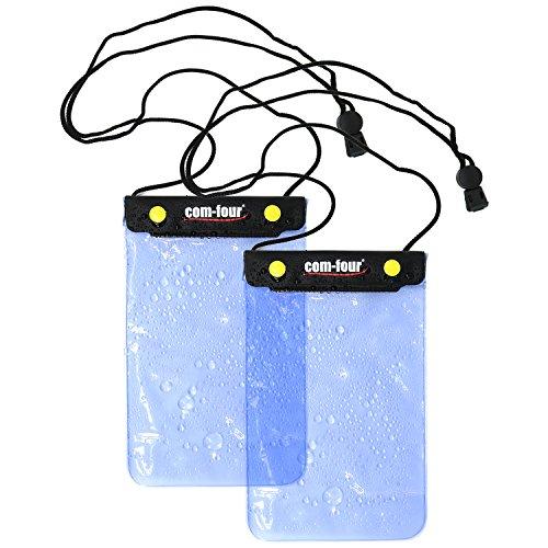 com-four® 2X wasserdichte Schutzhülle - staubdichte Hülle für Tablet & E-Book-Reader - Schutztasche in blau - 8,8