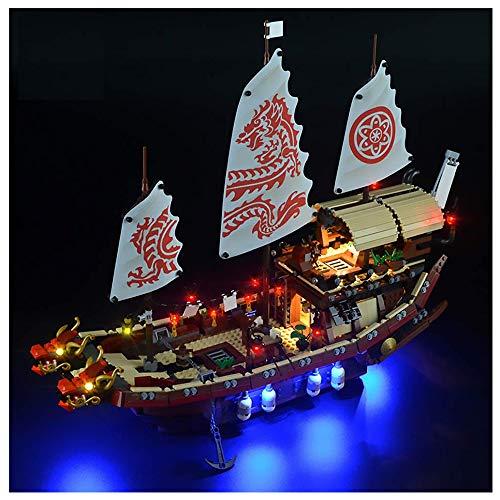 El Modelo De La Iluminación Utilizada De Montaje Para Los Bloques De Construcción De (Ninja Nave De Barco De Dragón), Compatible Con El Kit De Iluminación Lego 70618 LED (Este Modelo No Está Incluido)