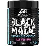 Gene Blast-Black Magic Pre-Workout Powder, Anti-Crash Formula – Energy Blast, Instant Strength Gains, Sharp Focus, Powerful Pumps Nitric Oxide Booster, 600g 40 Servings (Blue Raspberry)