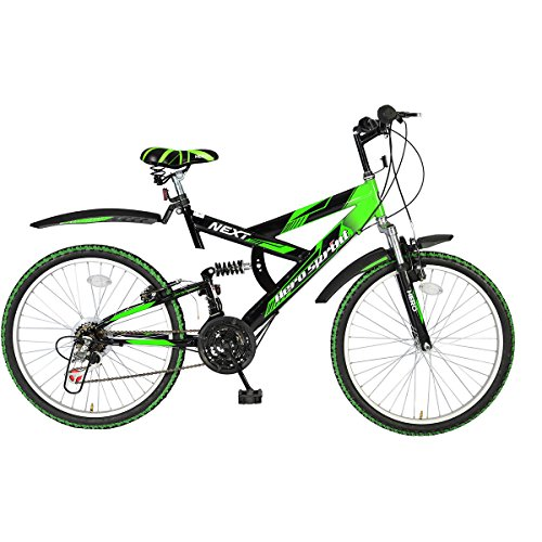 Hero Sprint Next 24T 18 Speed Mountain Bike (Green Black, Ideal For :...