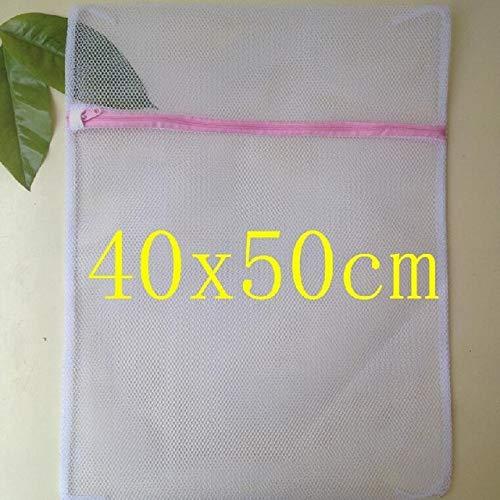 Mdsfe Kleidung Waschmaschine Wäsche BH Aid Dessous Mesh Net Waschbeutel Beutel Korb Femme 3 Größen S - Reißverschluss Waschbeutel M.