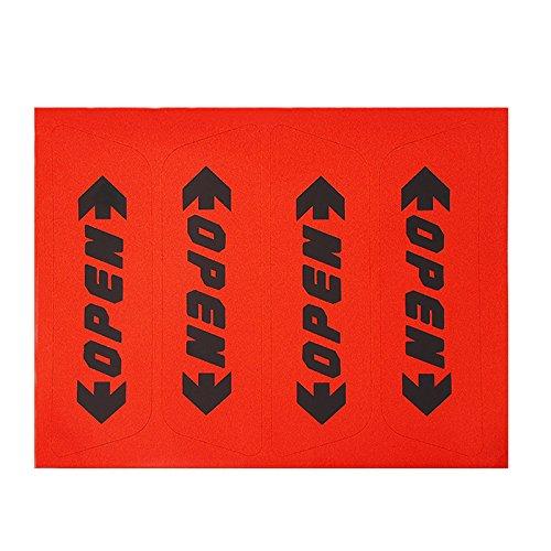 SKS Distribution® 4/Set Reflektierende Aufkleber Tür offen Warnung Safety Car Styling Auto Aufkleber?Rot