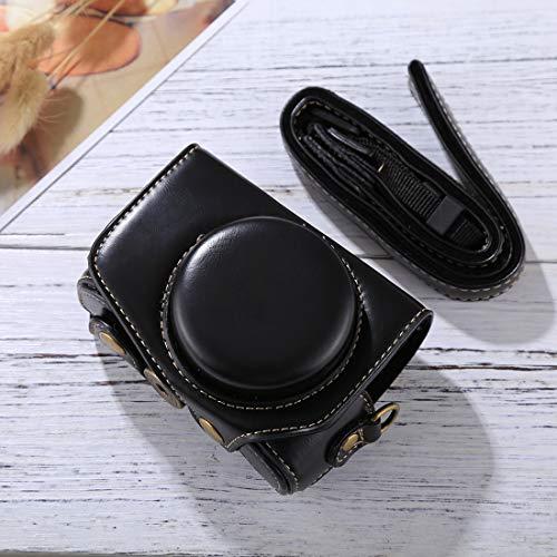 subtel® Tasche für Canon PowerShot G7 X Mark II Kunstleder Schutzhülle Tasche Cover Hülle Etui schwarz