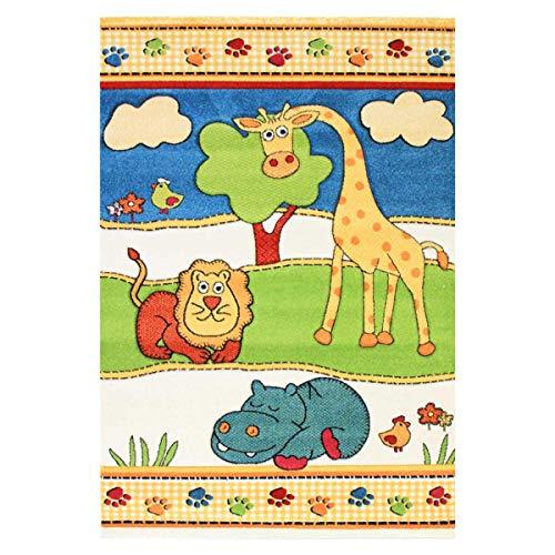 DEZENCO - Tappeto per Camera da Letto, Motivo: Animali, Colore: Beige