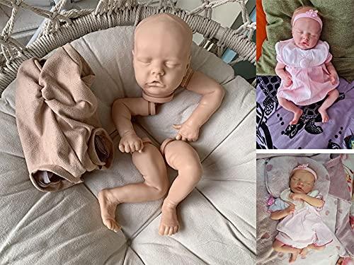 AN-LOKLIK DIY Realistic Unpainted17 inch Reborn Doll Kits with Cloth Body Handmade Mold Sets Beginners Painted