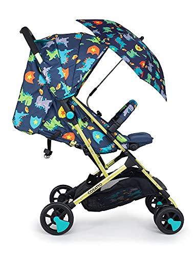Cosatto Woosh 2 Pushchair + Parasol – Ultra Lightweight Stroller From Birth to 25kg - One Hand Easy Fold, Compact (Dragon Kingdom)