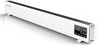 DIOE Calentador de aleación de Aluminio, conversión de frecuencia Inteligente, Panel de Vidrio Templado, protección múltiple, sin luz, sin Ruido, Blanco