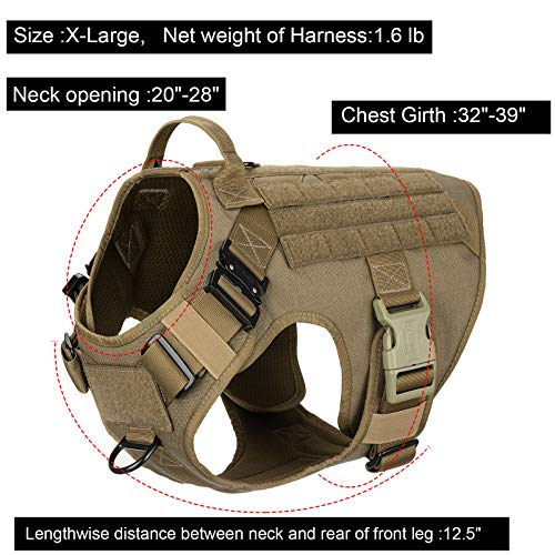 Product Image 3: ICEFANG Tactical Dog Harness with 2X Metal Buckle,Dog Walking <a href=