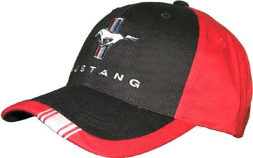 Ford Mustang tri-bar Logo schwarz und Red Hat
