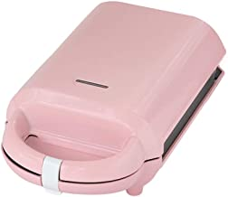 YWAWJ Mini Waffle Maker Sandwich Maker Sandwich Maker and Non-stick Waffle Maker Easy To Clean Function Premium Compact Stainless Steel Design Maker with Detachable (Color : Pink)