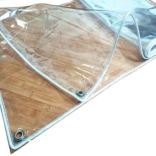 WXQIANG Las lonas transparentes, grosor de 0,3 mm de PVC de plástico de tela impermeable al aire libre a prueba de lluvia Shed Tela, for el jardín de efecto invernadero Protección solar, aislamiento t