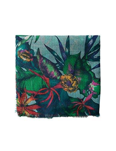 Desigual Damen Foulard_Tropicalia Schal, Grün (Green Paty 4070), One Size (Herstellergröße: U)