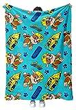 Tstars Nickelodeon Paw Patrol Fleece Blanket Rubble Paw Patrol Throw Blanket Cozy Blanket for Kids Plush Blanket for Boys