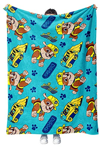 Tstars Nickelodeon Paw Patrol Fleece Blanket Rubble Paw Patrol Throw...