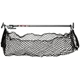 Keeper 05060 Ratcheting Cargo Bar with Storage Net Silver, 2.6 x 5.4 x 40.5 inches