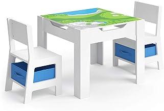 Kindersitzgruppe Kindertisch 2Stühle Schreibtisch Kindersitzgarnitur Homestyle4u
