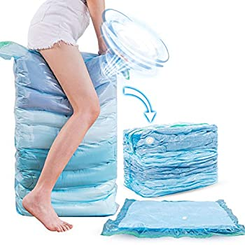 Vacuum Storage Space Saver Bags  2 x Cube 2 x Jumbo 2 x Large 2 x Medium  Vacuum Sealer Bags For Clothes Bedding Comforter Quilts Pillows No Pump No Cap 80% Space Saving Design  Variety 8 Pack