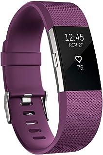 Fitbit Charge 2 Pulsera de Actividad física y Ritmo cardiaco, Unisex, Ciruela, L