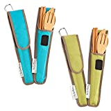Bamboo Travel Utensils - To-Go Ware Utensil Set with Carrying Case...