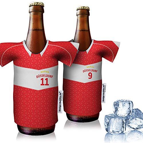 vereins-Trikot-kühler Home für Fortuna Fans | 2er Fan-Edition| 2X Trikots | Fußball Fanartikel Jersey Bierkühler by ligakakao.de