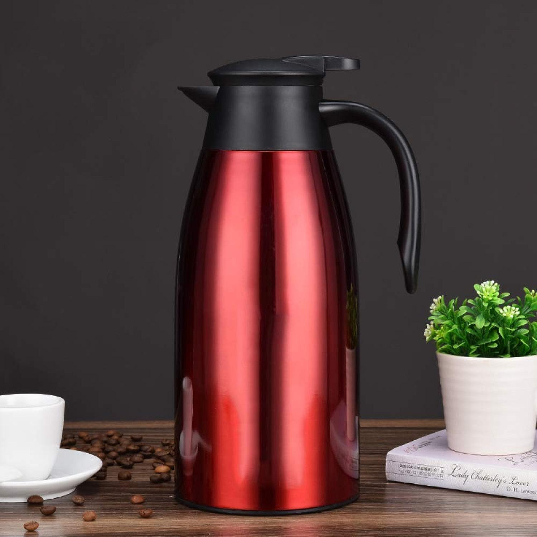 XHCP Bouilloire de Bouteille d'eau bouillante de revêteHommest de Verre d'acier Inoxydable de Pot d'isolation de ménage