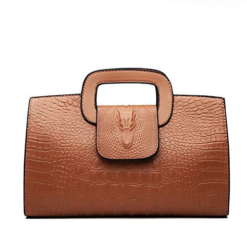 Fashionable lady bag handbag female shoulder messenger bag Vintage Handbag (Color : Brown)