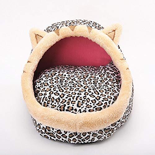 QYSXG Perro Cama del Animal doméstico Piel de imitación de Terciopelo Tradicional Sofá-Estilo Sala de Estar Sofá Nido Moda Perrera Comfort Cat con AlgodóN Transpirable Firme para Gatos
