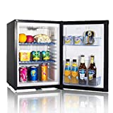 Smad Caravan Fridge with Lock, No Noise DC12V/AC240V Compact Fridge for Campervan RV Office Truck Camper Caravan, 12V Truck Refrigerator with Lock, 40L, Black