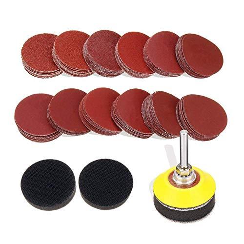 120pcs 2 Zoll-Schleifscheiben-Auflage mit 1/4 Zoll Schaft Backer Platte Und 2Pcs Schwamm Kissen for Drill Grinder Präzisionswerkzeuge XIAO DIAO