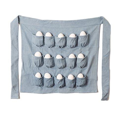 Denim Chicken Eggs Apron